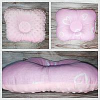 Подушка ортопедическая для новорожденного бабочка Польша Плюш Минки