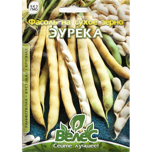 """Насіння квасолі на сухе зерно """"Еурека"""" (20 р) від ТМ """"Велес"""""""