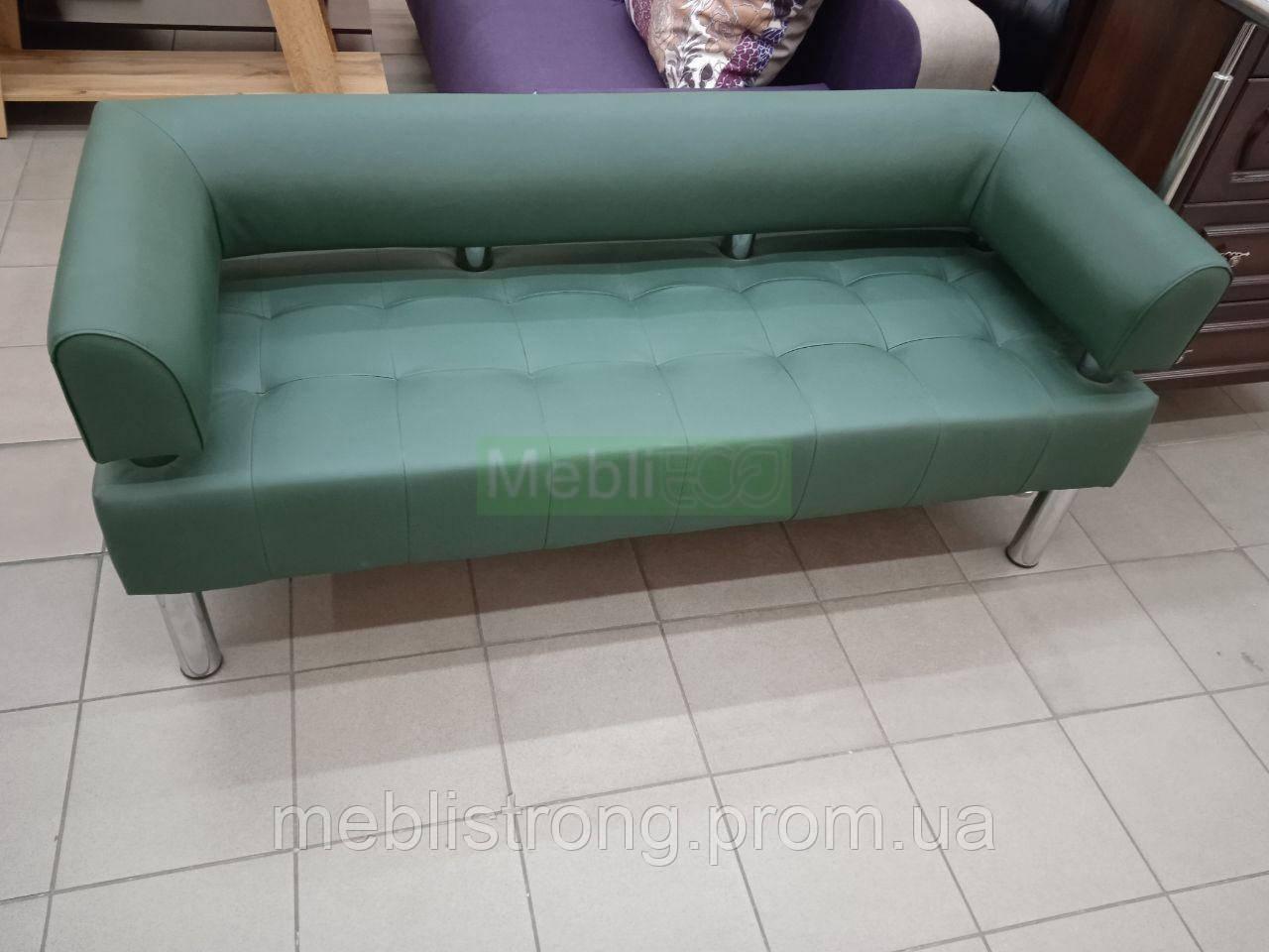 Офисный диван в офис Стронг (MebliSTRONG) - темно-зеленый цвет матовый