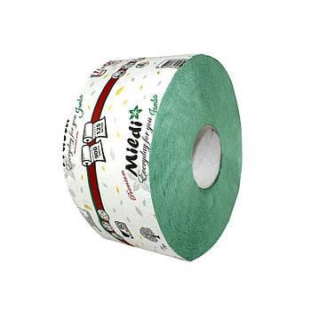 Туалетная бумага Mildi Premium Jambo однослойный 195х90 мм, зеленый