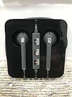Наушники с гарнитурой в пластиковой коробке Grey&Silver, фото 1