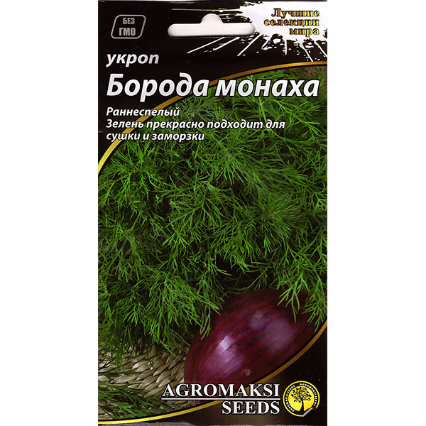 """Насіння кропу раннього """"Борода ченця"""" (3 р) від Agromaksi seeds"""