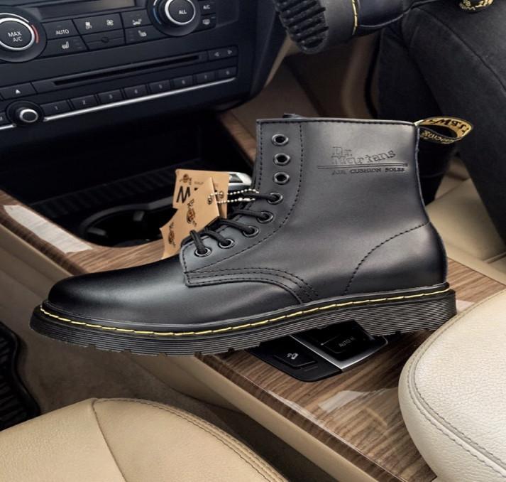 Женские ботинки Dr. Martens Classic black (с мехом)