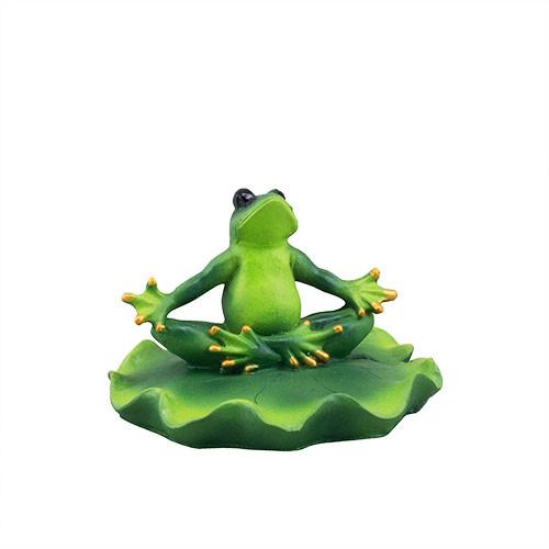 Садовая фигура Decoline для водоемов Лягушка на листочке (полистоун) W0010(P)