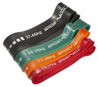 Эспандер-петля, резина для фитнеса и спорта SportVida Power Band 4 шт 12-46 кг SV-HK0190-4 SKL41-227206