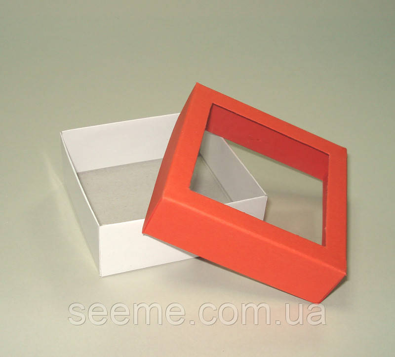 Коробка подарункова, 80x80x30 мм, колір помаранчевий