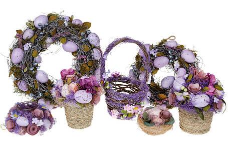 Декор пасхальный Корзинка, 26см, цвет - лаванда(6шт.)(743-841), фото 2