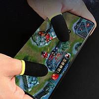 Напальчники ігрові для смартфона FlyTouch чорний з жовтим
