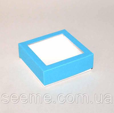 Коробка подарочная, 80x80x30 мм, цвет голубой