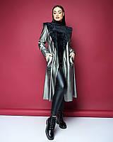 Жіноче пальто без застібки великого розміру.Розміри:46/48,50/52,54/56, фото 1