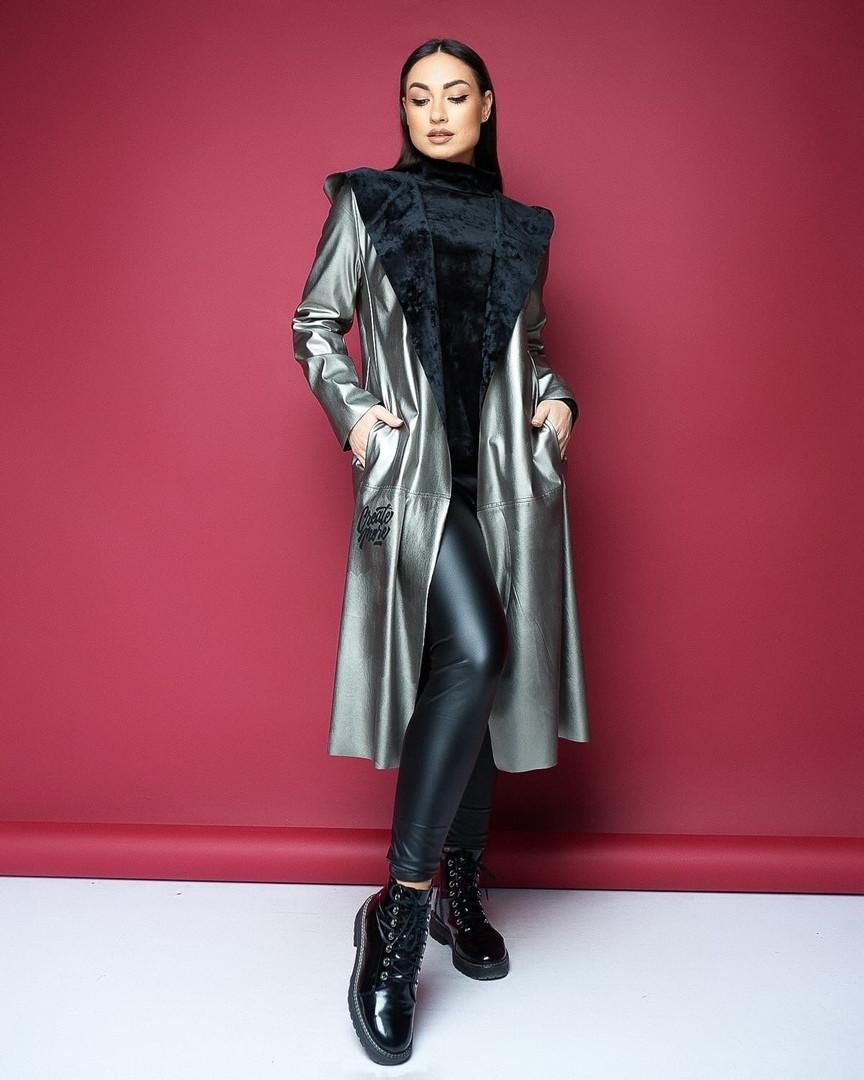 Жіноче пальто без застібки великого розміру.Розміри:46/48,50/52,54/56