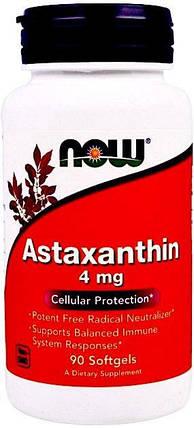 Now Foods, астаксантин, 4 мг, 90 капсул, фото 2