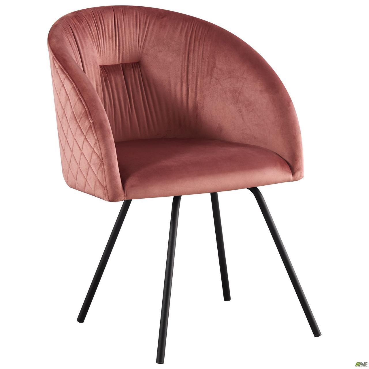 Кресло поворотное Sacramento черный/велюр розовый антик TM AMF
