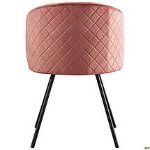 Кресло поворотное Sacramento черный/велюр розовый антик TM AMF, фото 3