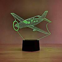 "3D ночник""Самолет 7"" 3DTOYSLAMP"