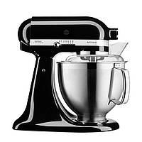 Миксер планетарный настольный KitchenAid Artisan 5KSM185PSEOB чаша 4.8л, с двумя чашами, черный, фото 1