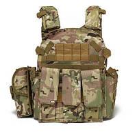 Тактический военный жилет-плитоноска.(Мультикам), фото 1