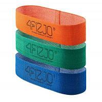Резинка для фитнеса и спорта тканевая 4FIZJO Flex Band 3 шт 1-15 кг SKL41-240760