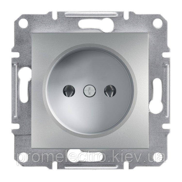 Розетка Schneider-Electric Asfora Plus без заземления алюминий (EPH3000161)