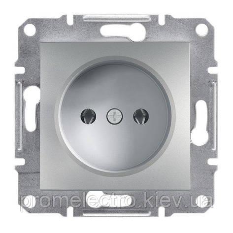 Розетка Schneider-Electric Asfora Plus без заземления алюминий (EPH3000161), фото 2