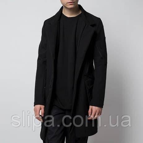 """Мужской плащ-пальто """"Yakuza"""" чёрный"""