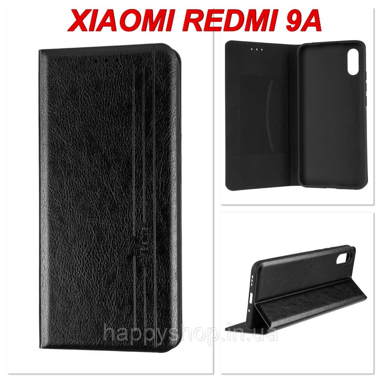 Чехол-книжка Gelius Leather New для Xiaomi Redmi 9A (Черный)