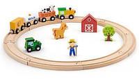 Игровой набор Viga Toys Железная дорога 19 деталей (51615)