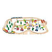 Игровой набор Viga Toys Железная дорога 90 деталей (50998)