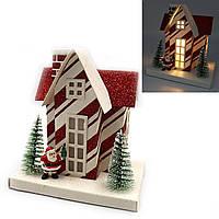 """Декор новогодний домик LED 3D фигура """"Новый год"""" 13х12,5х8,5см, 1шт/этик."""