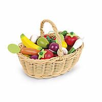 Игровой набор Janod Корзина с овощами и фруктами 24 эл (J05620)