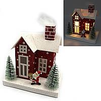 """Декор новогодний Домик LED 3D фигура """"Рождество"""" 13х12,5х9см, 1шт/этик."""