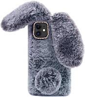Чехол панель для Apple iPhone 12 Pro Max Alitek Зайчик Dark Grey