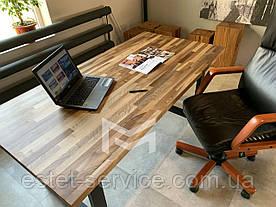Стол кухонный Техас в стиле LOFT с массива Ореха, М902