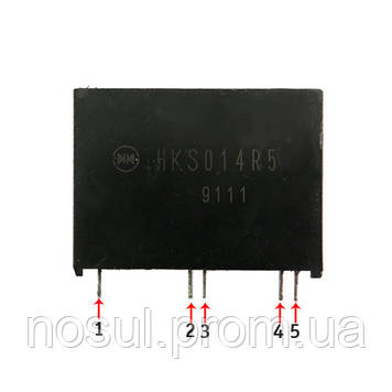 HKS014R5 преобразователь напряжения модуль DC-DC step-down +12 +5
