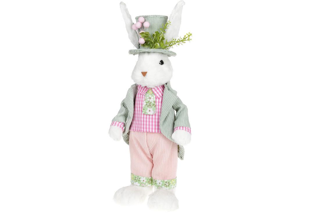 Декоративная пасхальная фигура Кролик в цилиндре, 45см(NY27-908)