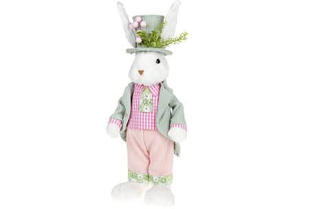 Декоративная пасхальная фигура Кролик в цилиндре, 45см(NY27-908), фото 2