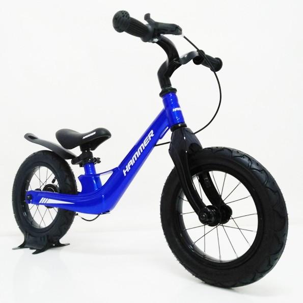 Детский беговел магниевая рама и вилка (Magnesium) 12 дюймов HAMMER 12-49G синий
