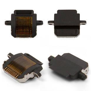 Коннектор зарядки для iPad 4, черный, Lightning