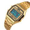 Часы в ретро стиле Skmei 1123 POPULAR золотые, фото 2