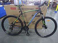 """Горный алюминиевый велосипед Crosser Inspiron 29""""рама 19"""" комплектация Shimano,быстрый съем колес черно-зелены"""