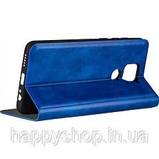 Чехол-книжка Gelius Leather New для Xiaomi Redmi Note 9 (Синий), фото 3