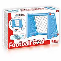 Футбольні ворота, пластикові, блакитні, 75х100х55см // (3026)