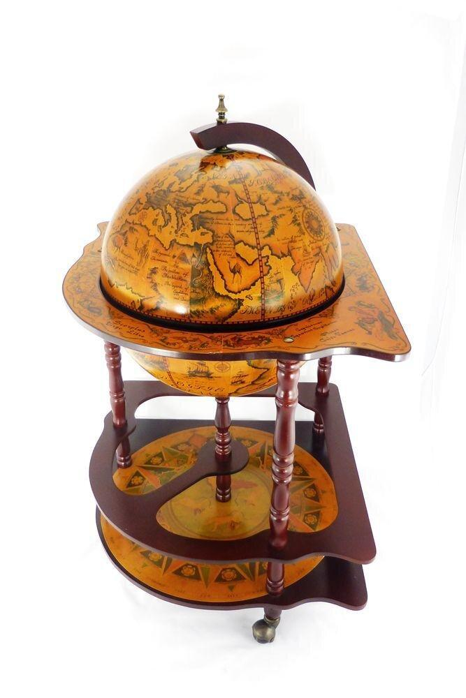 Глобус бар угловой коричневый 42014R