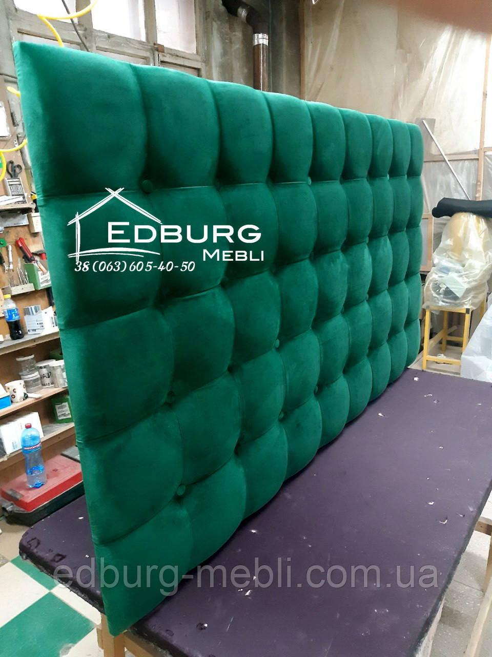 Узголів'я ліжка, стінова панель Квадро екокожа