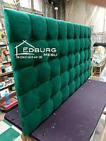 Узголів'я ліжка, стінова панель Квадро екокожа, фото 1
