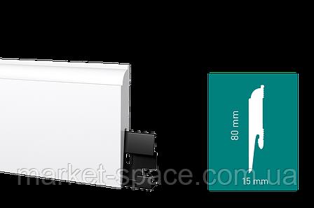 Плінтус Arbiton DORA D0610 підлоговий білий під фарбування (58x20x2400), фото 2
