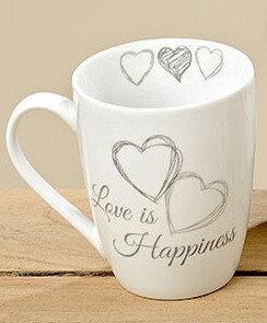 Кружка Сердце серая керамика h10см 330мл 3373200