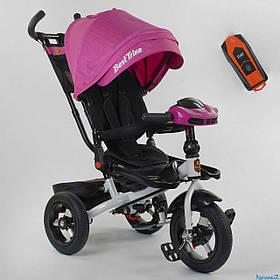 Велосипед триколісний Best Trike 6088F-06-755 Рожевий | Велосипед-коляска з батьківською ручкою