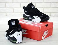 Nike Air Max Speed Turf мужские кроссовки в стиле Обувь Найк Спид Турф высокие черно белые