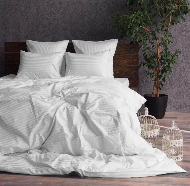 Комплект постельного белья страйп-сатин(белый)
